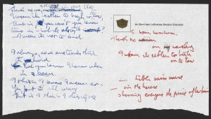 John Lennon's draft of Strawberry Fields (Sony). Pic: The British Museum