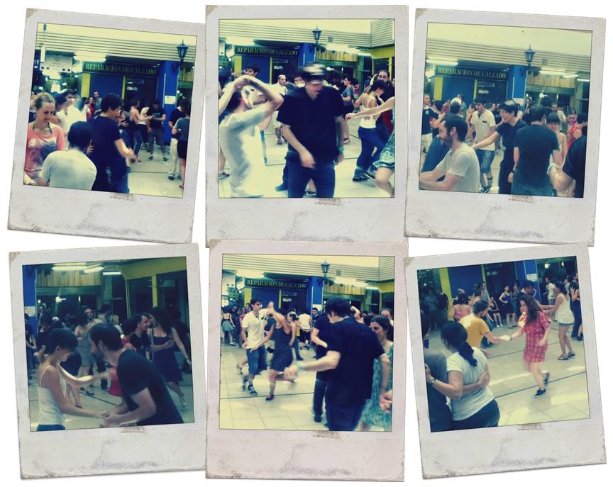 Swing dancing in San Fernando Mercado, Madrid